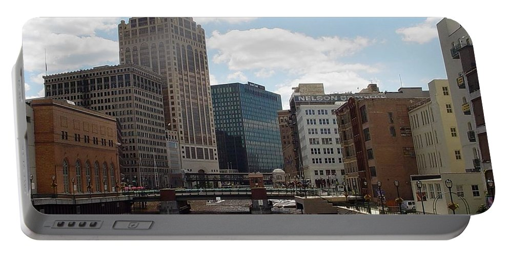 Milwaukee Portable Battery Charger featuring the photograph River View by Anita Burgermeister