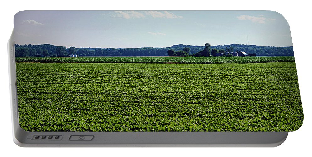 Missouri Portable Battery Charger featuring the photograph Riverbottom Farms by Cricket Hackmann