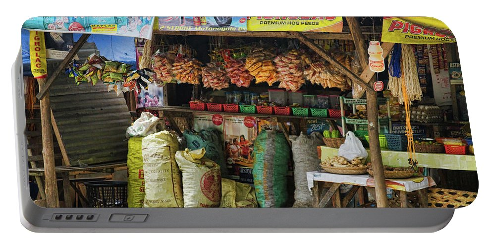 stock Images Portable Battery Charger featuring the photograph Road Side Store Philippines by James BO Insogna