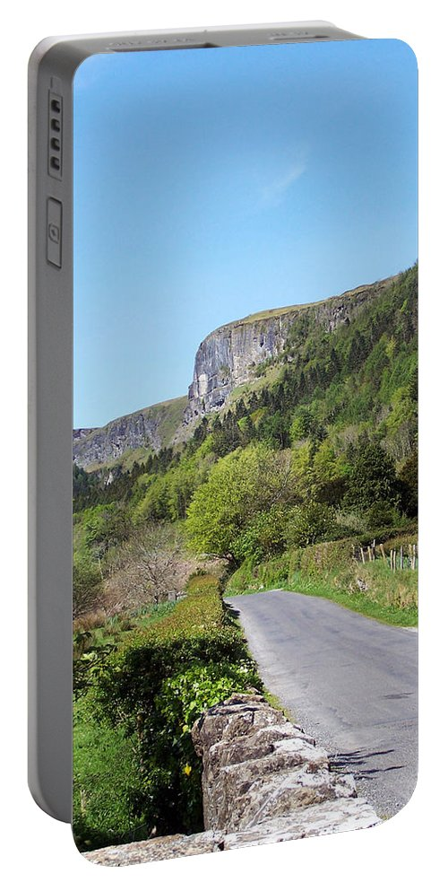 Irish Portable Battery Charger featuring the photograph Road To Benbulben County Leitrim Ireland by Teresa Mucha