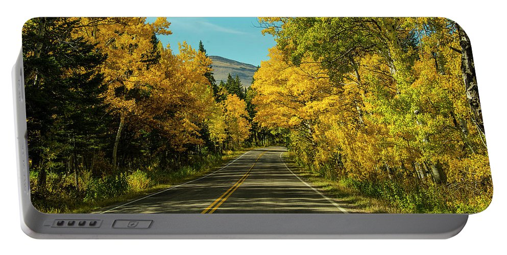 Road Portable Battery Charger featuring the photograph Road to East Glacier by Roy Nierdieck
