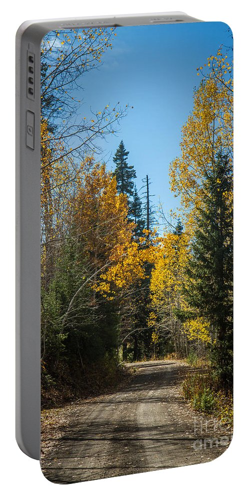 Autumn Portable Battery Charger featuring the photograph Road To Fall Colors by Robert Bales