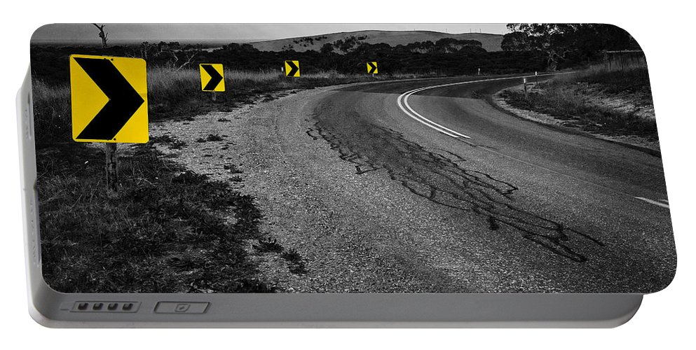 Road Portable Battery Charger featuring the photograph Road To Nowhere by Kelly Jade King
