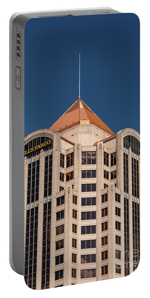 Roanoke Virginia Wells Fargo Bank Banks Building Buildings Structure Structures Architecture City Cities Cityscape Cityscapes Portable Battery Charger featuring the photograph Roanoke Wells Fargo Bank by Bob Phillips