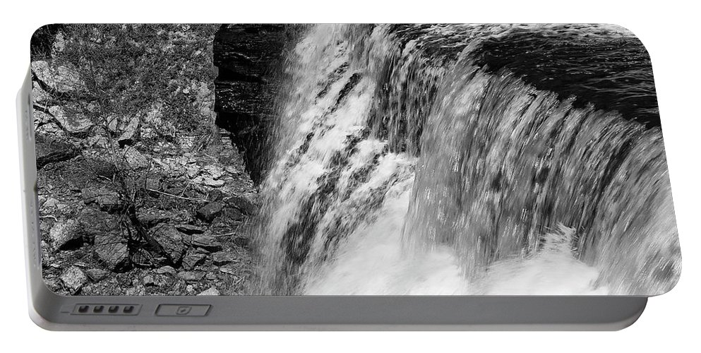 Burgess Falls State Park Portable Battery Charger featuring the photograph Roar Of The Falls by Bob Phillips