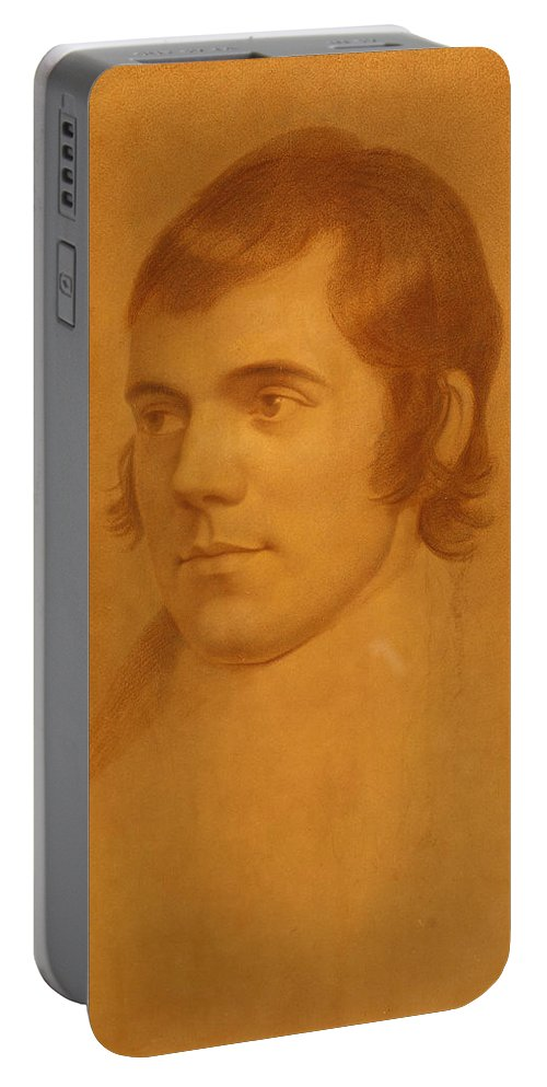 Archibald Skirving Portable Battery Charger featuring the drawing Robert Burns. Poet by Archibald Skirving