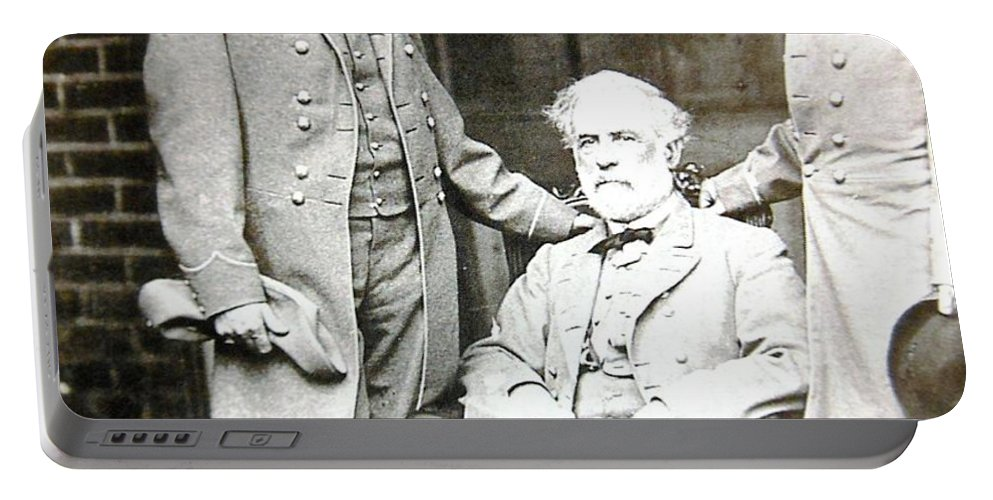 Photo Portable Battery Charger featuring the photograph Robert E Lee by Lord Frederick Lyle Morris - Disabled Veteran