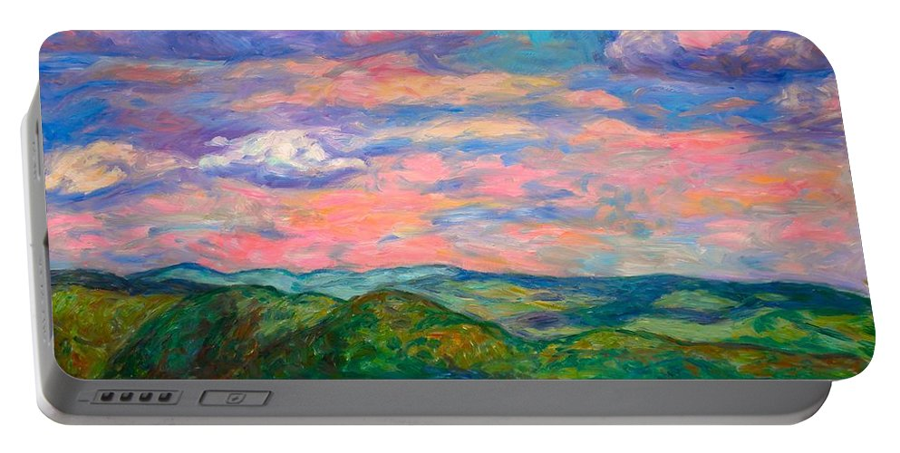 Landscape Paintings Portable Battery Charger featuring the painting Rock Castle Gorge by Kendall Kessler