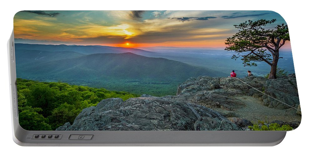 Ravens Portable Battery Charger featuring the photograph Rock Climbing At Ravens Roost by Karen Jorstad