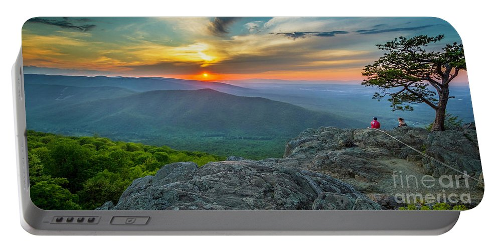 Ravens Portable Battery Charger featuring the photograph Rock Climbing At Ravens Roost Pano by Karen Jorstad