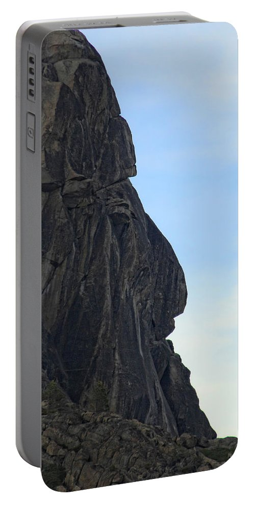 Rock Portable Battery Charger featuring the photograph Rock Face by Donna Blackhall