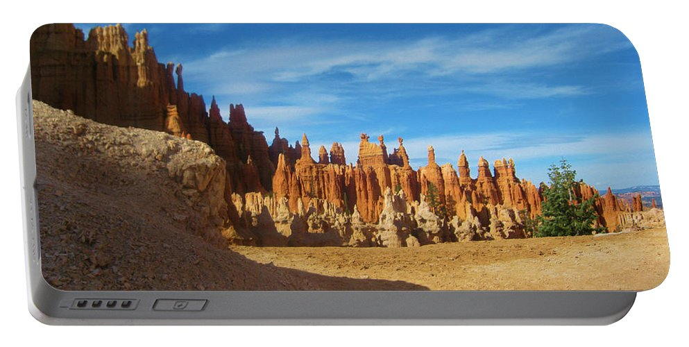 Bryce Canyon Portable Battery Charger featuring the photograph Rock Formations by Eric Fellegy