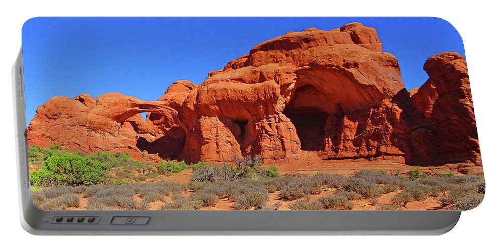 Rock Formations Portable Battery Charger featuring the photograph Rock Formations by Eunice Warfel