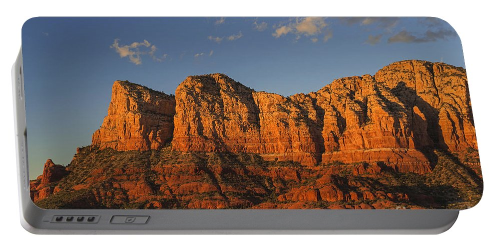Rock Formations Portable Battery Charger featuring the photograph Rock Formations by Yefim Bam