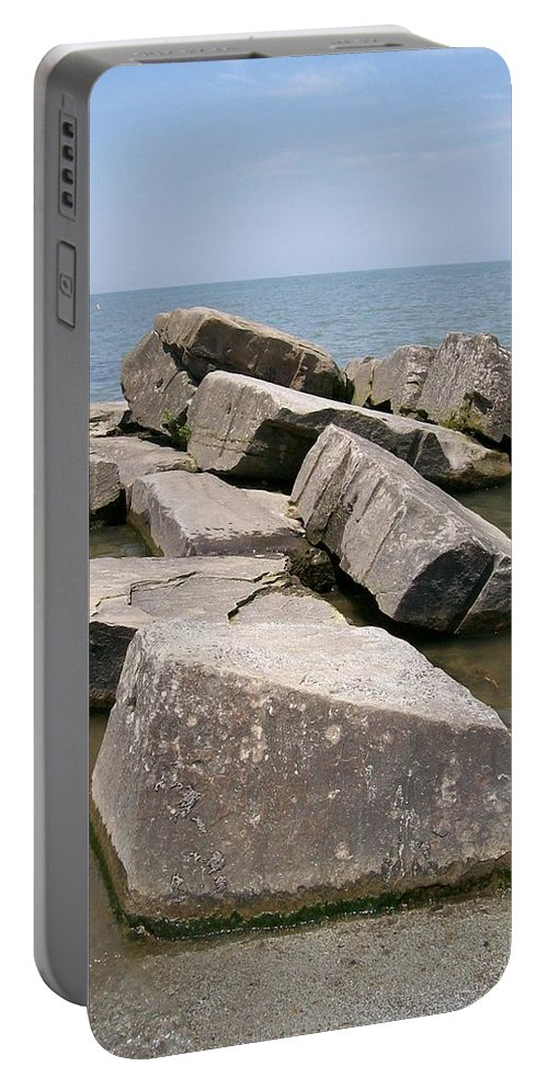 Rocks Portable Battery Charger featuring the photograph Rock Fortress by Sara Raber