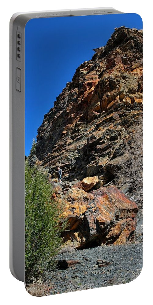 Rock Portable Battery Charger featuring the photograph Rock Hill by Buck Buchanan