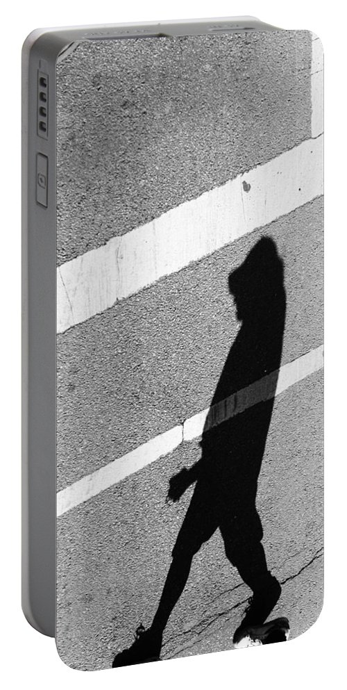 Street Photography Portable Battery Charger featuring the photograph Rock Paper by The Artist Project