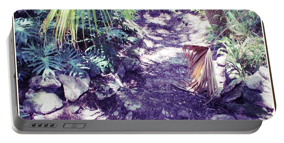Shannon Portable Battery Charger featuring the photograph Rock Path by Shannon Sears