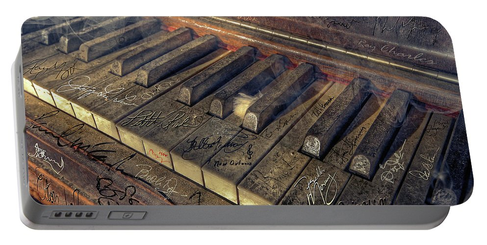 Rock Portable Battery Charger featuring the photograph Rock Piano Fantasy by Mal Bray