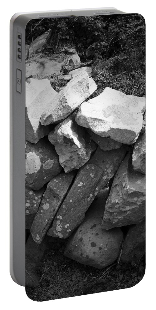 Irish Portable Battery Charger featuring the photograph Rock Wall Doolin Ireland by Teresa Mucha