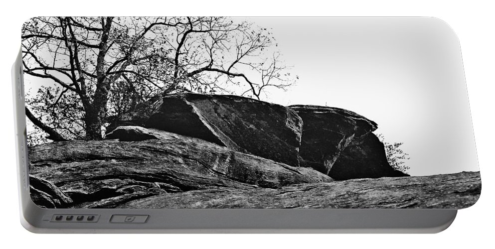 Landscape Portable Battery Charger featuring the photograph Rock Wave by Steve Karol
