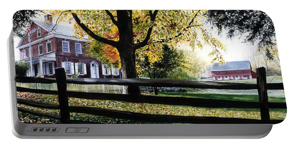 Lancaster County Pa Portable Battery Charger featuring the painting Rockford In Autumn by Denny Bond