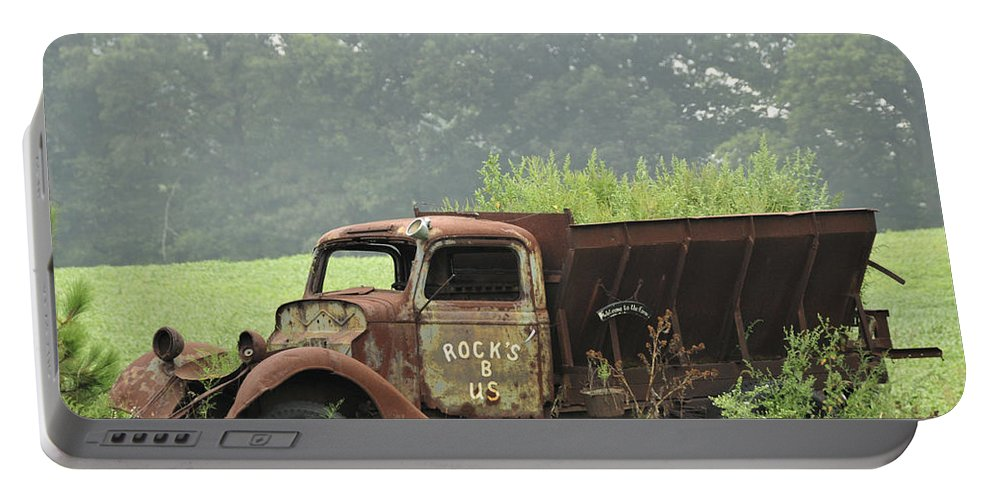 Truck Portable Battery Charger featuring the photograph Rocks B Us 1 by David Arment
