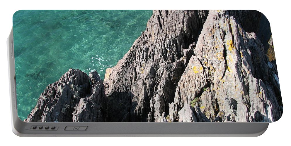Kerry Portable Battery Charger featuring the photograph Rocks Of Kerry by Kelly Mezzapelle