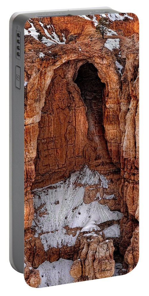 Art Portable Battery Charger featuring the photograph Rocky Alcove by Christopher Holmes