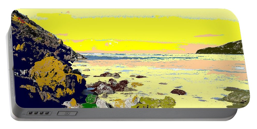 Beach Portable Battery Charger featuring the photograph Rocky Beach by Ian MacDonald