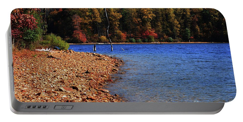 Beach Portable Battery Charger featuring the photograph Rocky Beach by Lori Tambakis