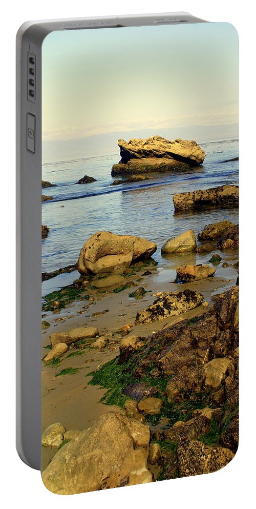 Beach Portable Battery Charger featuring the photograph Rocky Beach by Marty Koch