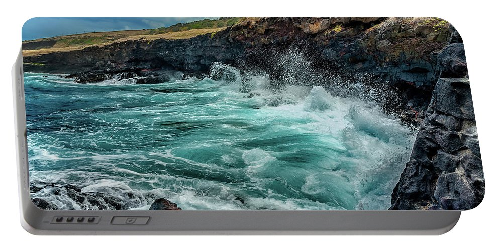 Hawaii Portable Battery Charger featuring the photograph Rocky Coast by Christopher Holmes
