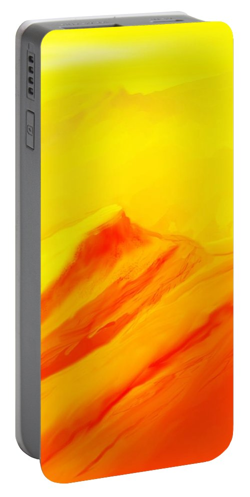 Landscape Portable Battery Charger featuring the digital art Rocky Landscape 122010 by David Lane