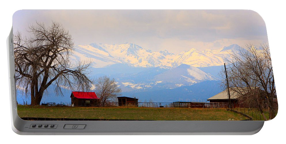 Rocky Mountains Portable Battery Charger featuring the photograph Rocky Mountain Boulder County View by James BO Insogna