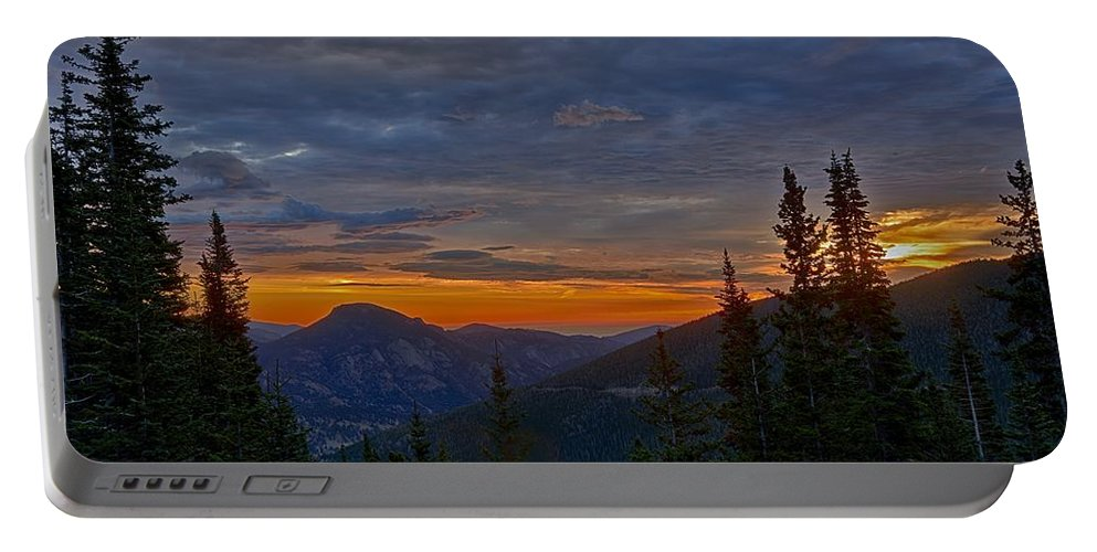Colorado Portable Battery Charger featuring the photograph Rocky Mountain High Sunrise by Michael J Samuels