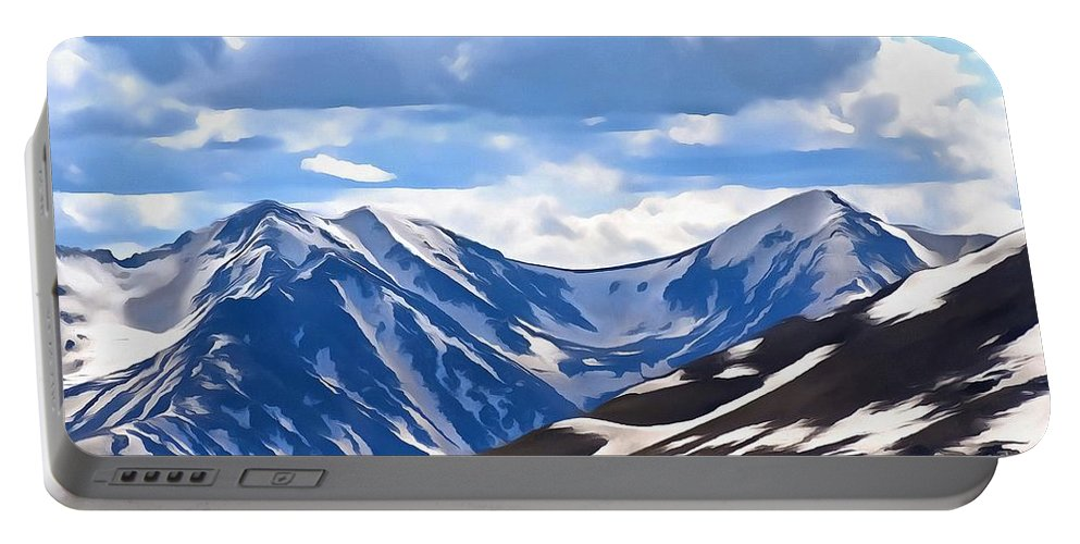 Rocky Mountain National Park Portable Battery Charger featuring the digital art Rocky Mountain High Trail Ridge Road by Dan Sproul