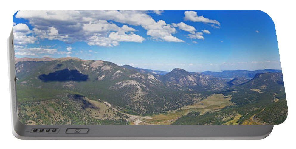 Landscapes Portable Battery Charger featuring the photograph Rocky Mountain National Park Panoramic by Ernie Echols