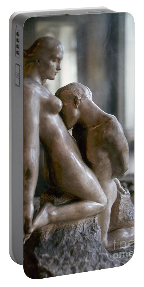 1911 Portable Battery Charger featuring the photograph Rodin: Lovers, 1911 by Granger