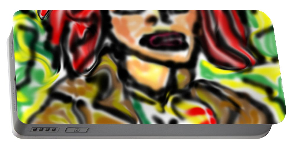 Rogue Portable Battery Charger featuring the digital art Rogue by Blind Ape Art