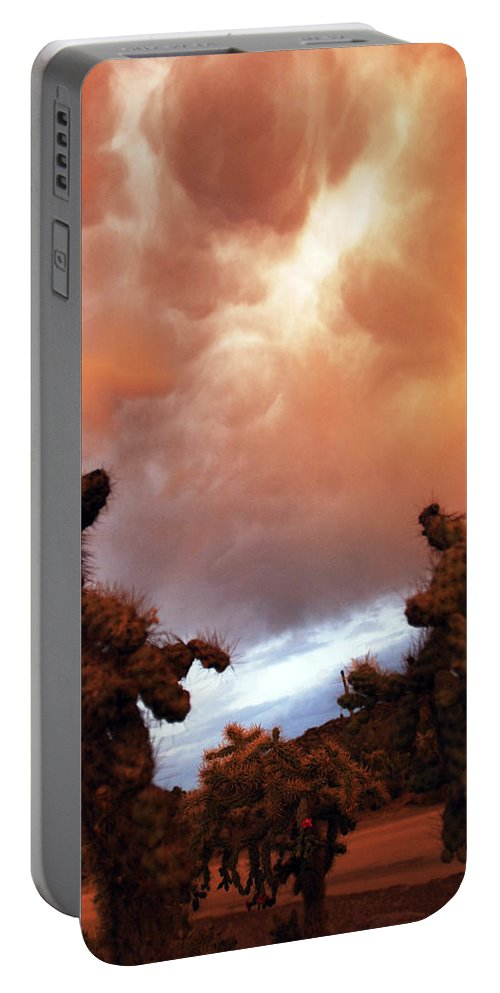 Storm Portable Battery Charger featuring the photograph Roiling Sky by Jill Reger