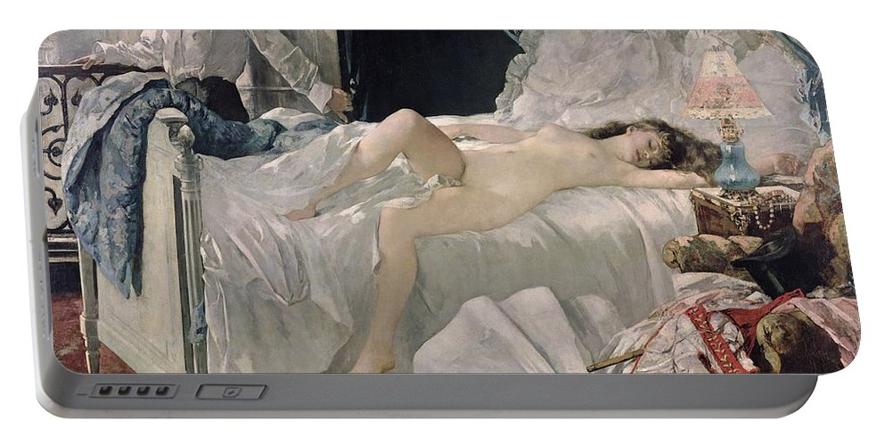 Gervex Portable Battery Charger featuring the painting Rolla by Henri Gervex