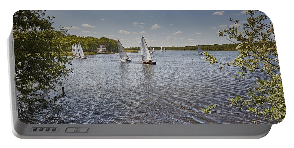 Sailing Boats Portable Battery Charger featuring the photograph Rollesby Broad by Ralph Muir