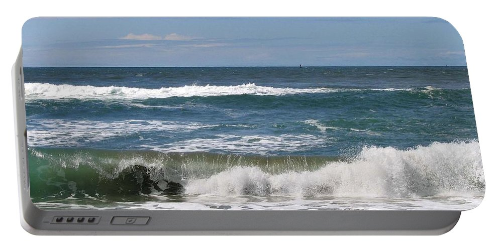 Seascape Portable Battery Charger featuring the photograph Rolling Ashore by Will Borden
