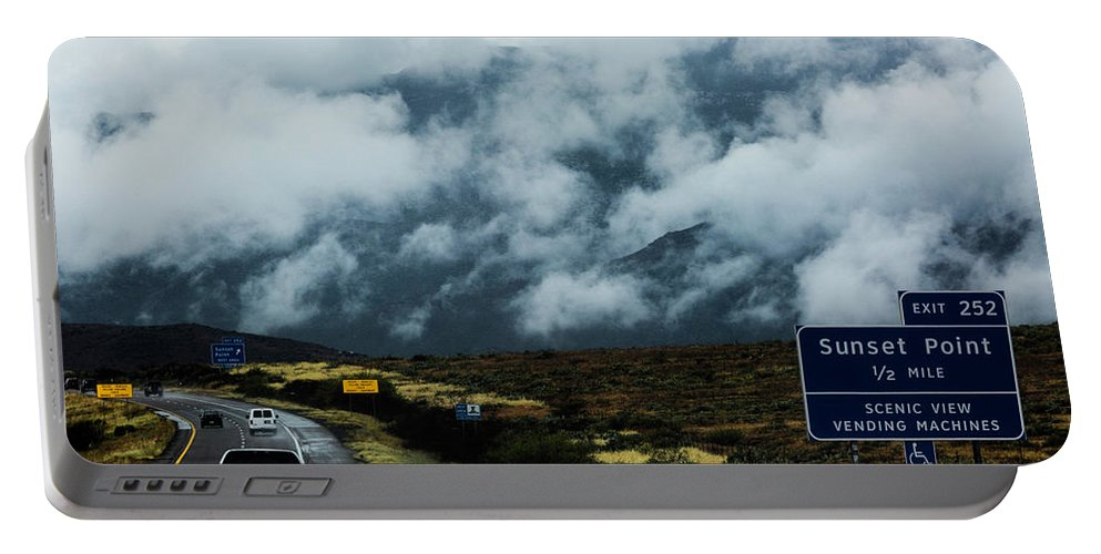 Az Portable Battery Charger featuring the photograph Rolling Fog by Billy Bateman