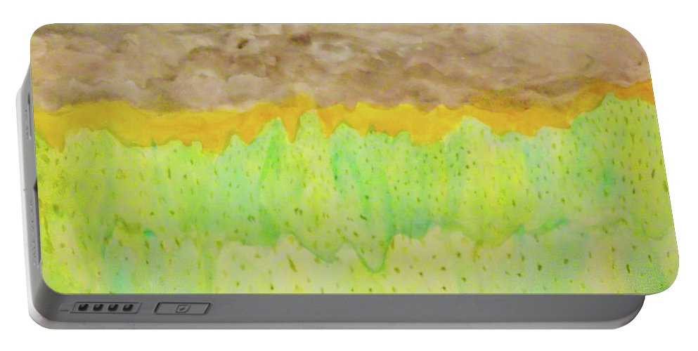 Landscape Portable Battery Charger featuring the painting Rolling Heavens by Alexis Keels