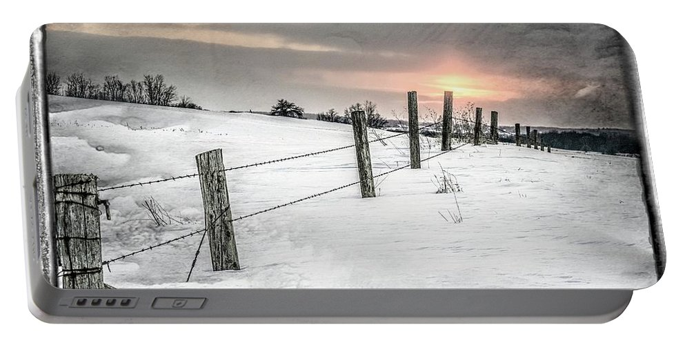Winter Portable Battery Charger featuring the photograph Rolling Hills by Garvin Hunter