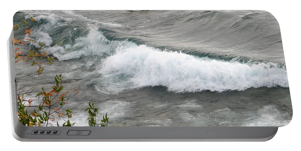 Wave Portable Battery Charger featuring the photograph Rolling by Kelly Mezzapelle
