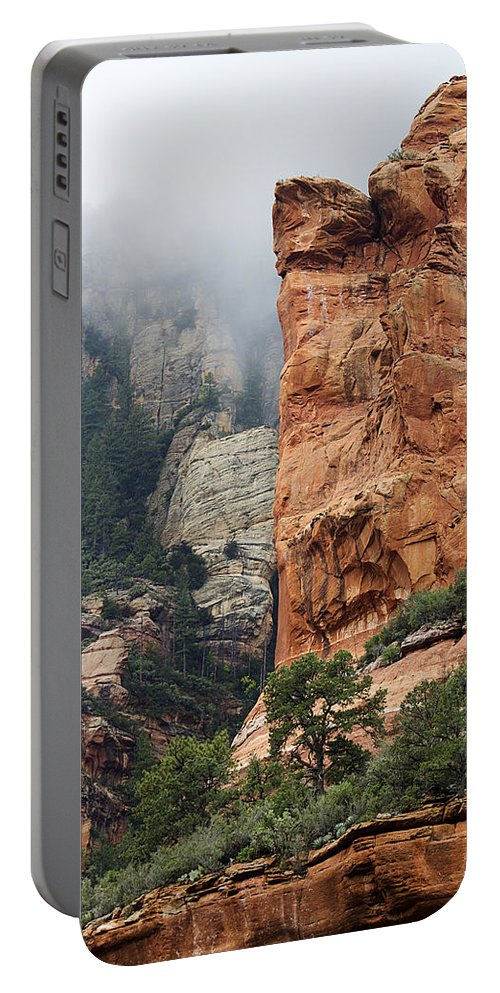 Sedona Portable Battery Charger featuring the photograph Rollings Mists by Phyllis Denton