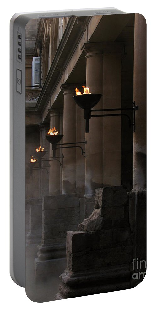 Bath Portable Battery Charger featuring the photograph Roman Baths by Amanda Barcon